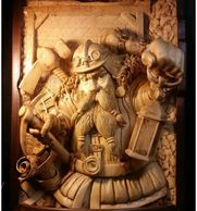 Master Miner - Woodcarvings by Randall Stoner, aka Madcarver