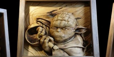 """..try not.."" - Woodcarvings by Randall Stoner, aka Madcarver"