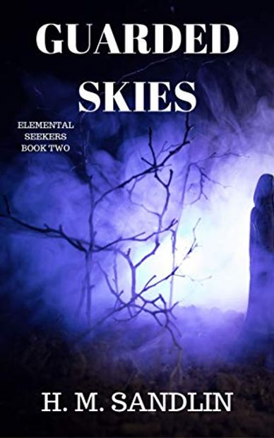 fantasy, magic, elementals, elemental magic, dark forest, young adult, H.M. Sandlin, Guarded Skies, Elemental Seekers, fiction, scary, forest, mage, wizard,