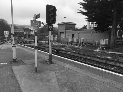 Lewes Substation - view from Lewes Station platform