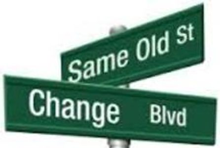 People change in three ways.  They learn to think differently, to behave differently, or are pulled
