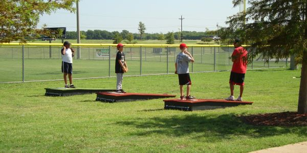 Practice and portable training mound. Little League and up. Being to practice with more accuracy.