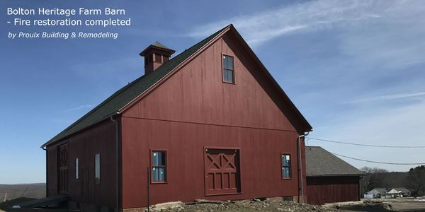 historic restoration, historic preservation, historic repair, barn repair, barn remodel, fire damage