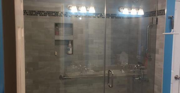 bathroom remodel, glass shower door, bath remodel, walk in shower