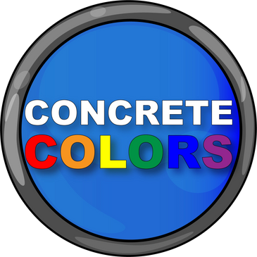Concrete color options for patios, walkway and driveways.