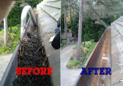 GUTTER  DOWNPIPE CLEARANCE