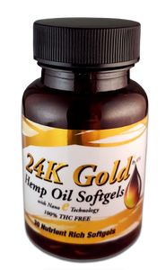 Bottle of spx 24k gold. Hemp derived CBD with E nano technology. 30 day supply.
