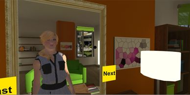 trans person in mirror virtual reality game transgender