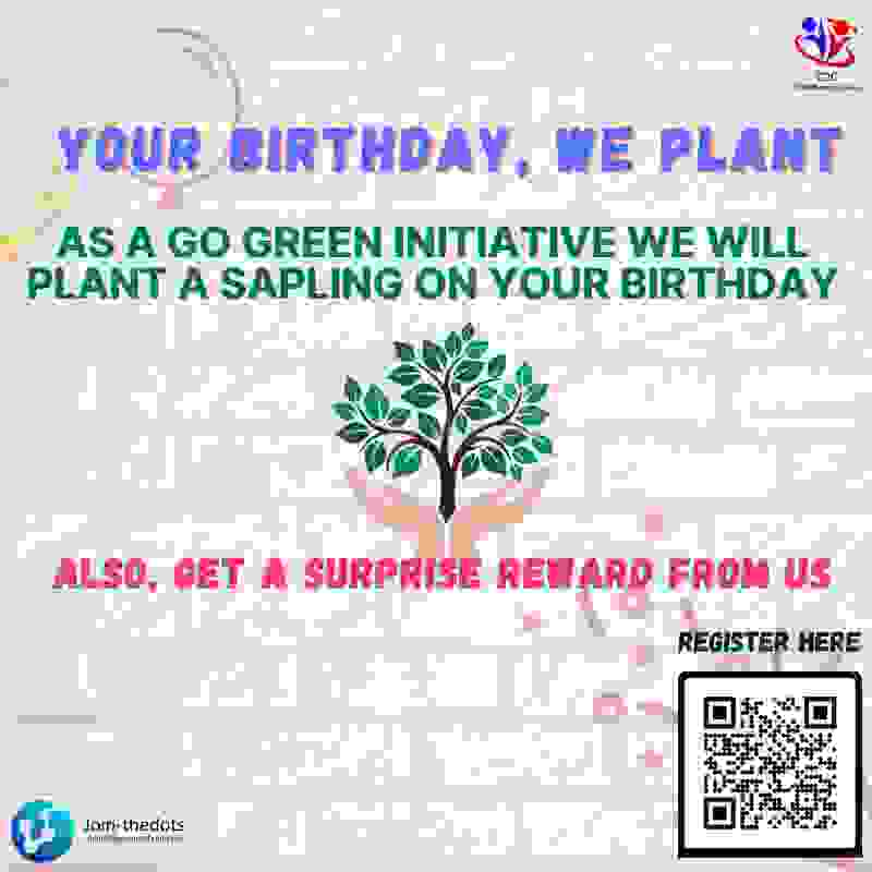 Birthday celebration - Our initiative to celebrate your birthday & also plant a sapling