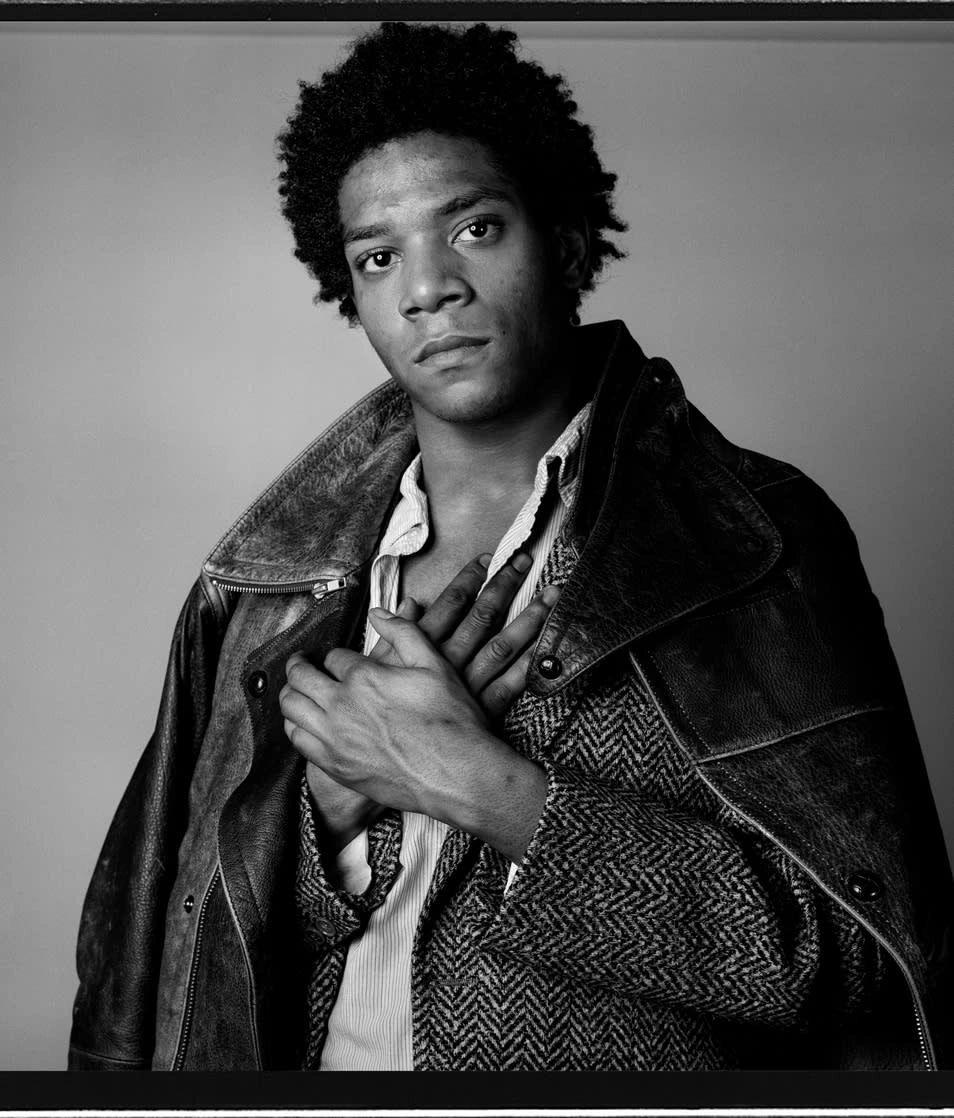 """""""Basquiat A Portrait III"""" by Richard Corman"""