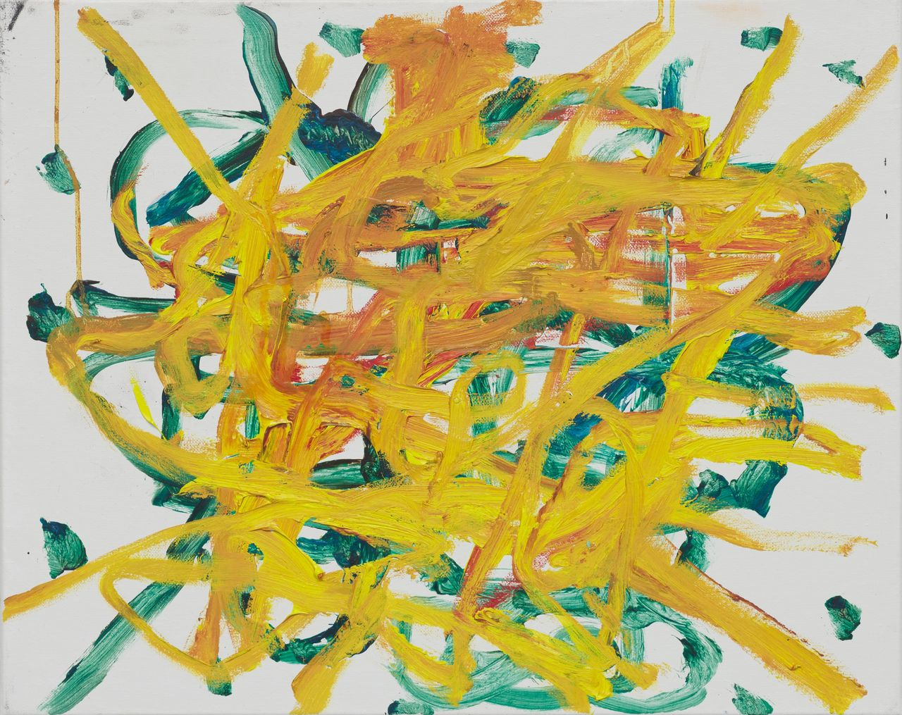 TJ Bohm, 'Untitled,' 2019, mix media, oil paint, acrylic, charcoal, polyurethane, unique 16h x 20w in. Image courtesy of the Artist.