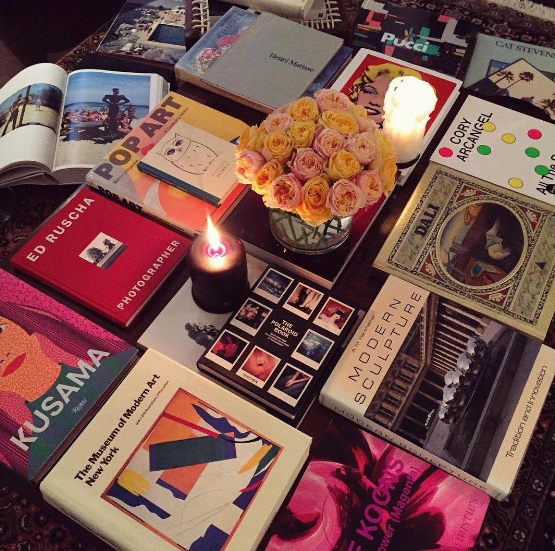 Art books offer a world of décor opportunities. (c) Gabé Hirschowitz, 2021