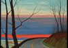 """Sunset on Skyline Drive"" (2001), Oil on canvas, signed L/L, Size: 48 x 30"", Framed: 27 x 35"""