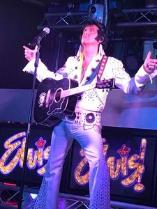 Elvis tribute artist impersonator Vegas show girls