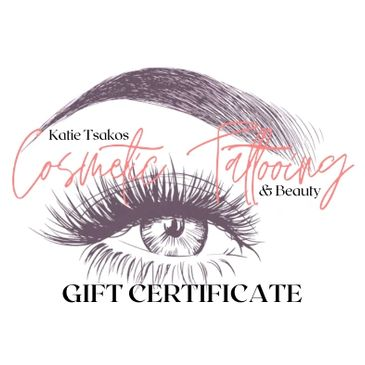 gift certificates, eGift cards, gift voucher, cosmetic tattooing gift certificate