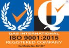 Valve Accredited - QAS International ISO 9001:2015 Registered Company