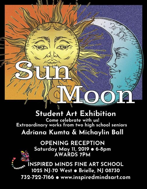Come out for a fun night of art, friends and food to celebrate our two high school senior artists!