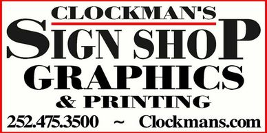 Clockman's Sign Shop Graphics and Printing in Manteo on Roanoke Island in the Outer Banks