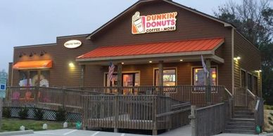 Dunkin Donuts  in Manteo on Roanoke Island in the Outer Banks