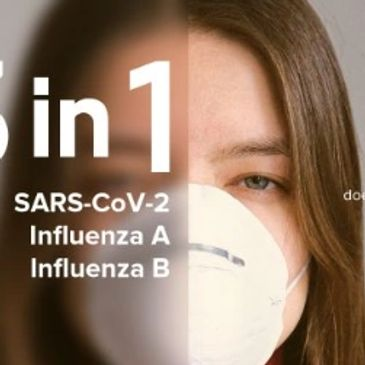 CE certified 3-in-1 test For SARS-CoV-2, Influenza A and Influenza B