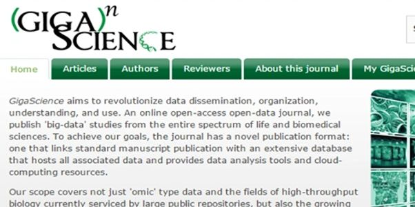GigaScience, BGI's online science magazine