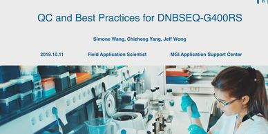 MGI Quality Control for DNBSEQ Platforms webinar
