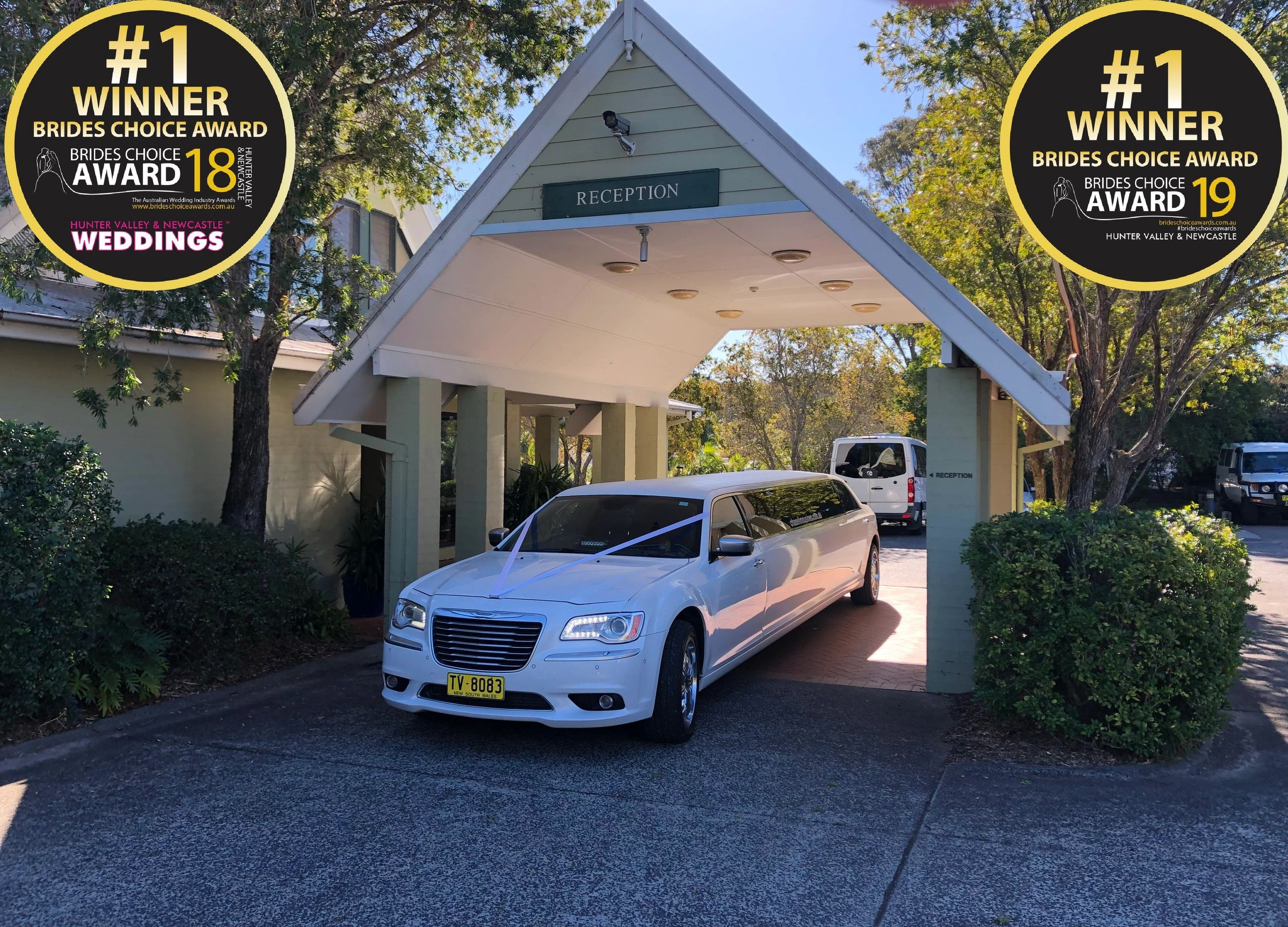 Hunter Valley's Brides choice for transport.  Hire Car, Limousines & Guest Transport