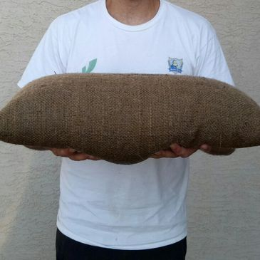 Inflated Quik-Response sandless sandbag fully activated to 40 lbs.