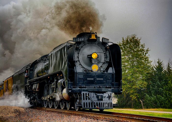 Union Pacific, steam locomotive, engine, train, UP 844