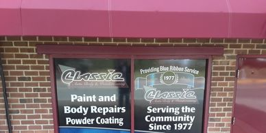 Brand your business or school with  full color window lettering.