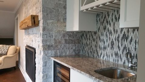 Client Fireplace & Backsplash, Prior Lake MN
