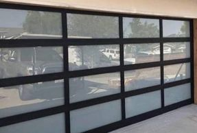 Anodized & Powder coat Aluminium Glass Garage doors - best price garage door service - 818-431-7520