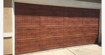 wood like color steel garage doors - best price garage door service - 818-431-7520