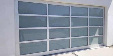 Aluminum glass garage doors - glass garage doors - best price garage door service - 818-431-7520
