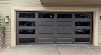 modern view garage door - best price garage door service - 818-431-7520