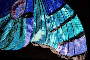 Large Angel  Wing Appliques Butterfly DIY projects Sequined Crystal Rhinestone Beads crystals