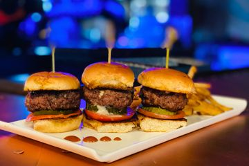 Juicy Lucy Sliders with Gorgonzola Cheese