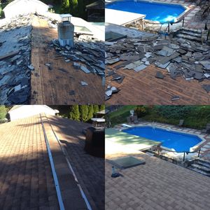 Reroof Roofing Contractor Roofer Replacement removal Roof repair Roof cleaning Chimney repair Gutters Flashing Skylights Dormers Wood-roofs Flat-roofs Slate-roofs Metal-roofs Rubber-roofs Shingle-roofs Commercial-roofs Residential-roofs