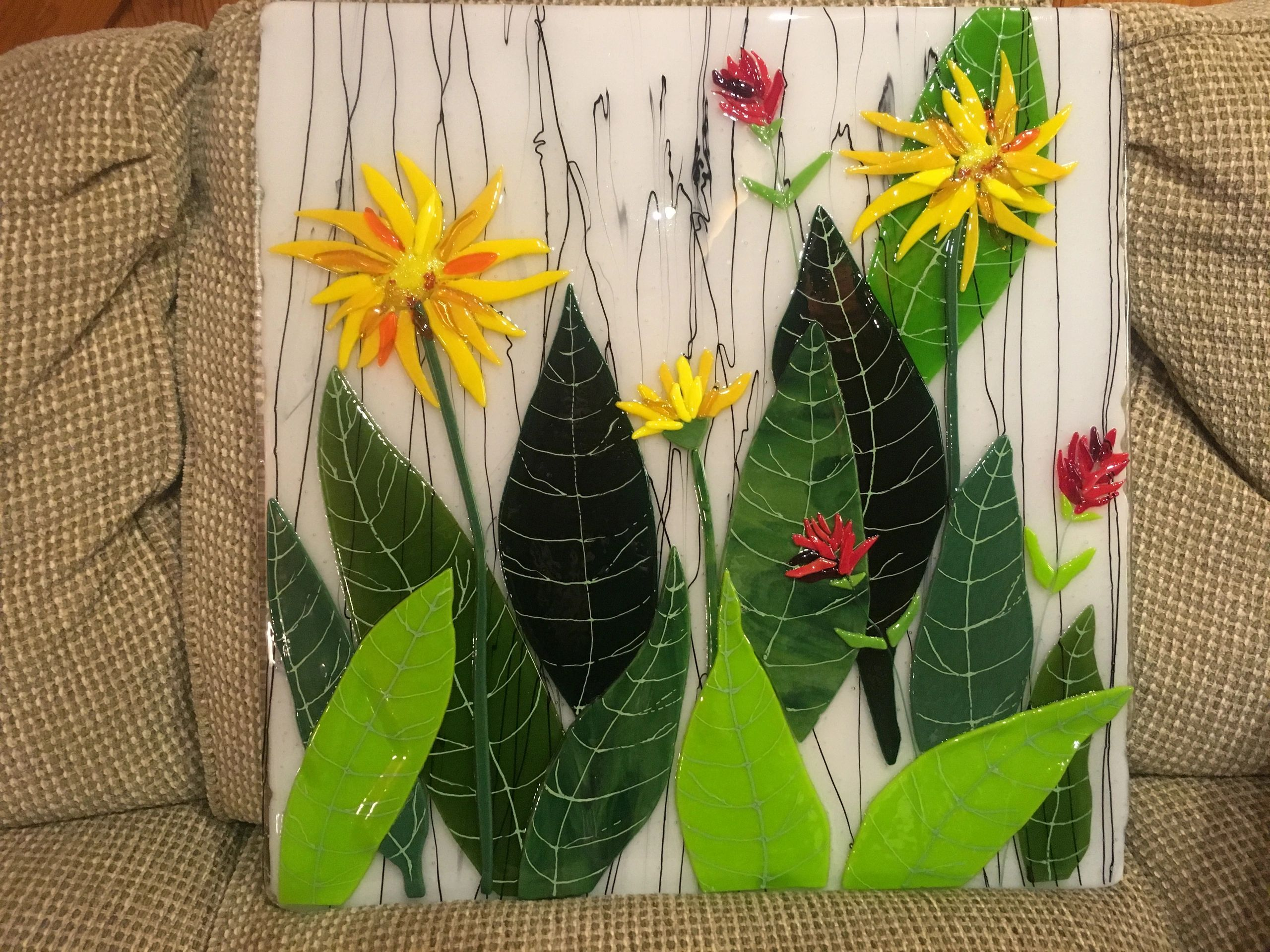This 20 x 19 inch panel features Mules Ear, and Paintbrush, two gorgeous plants that bloom in Tahoe.