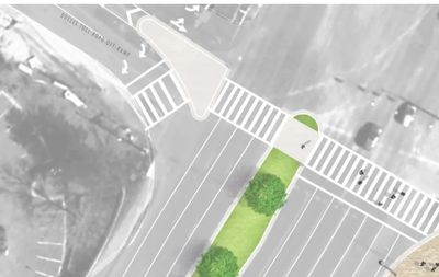Proposed Wiehle Crossing at the toll road ramps