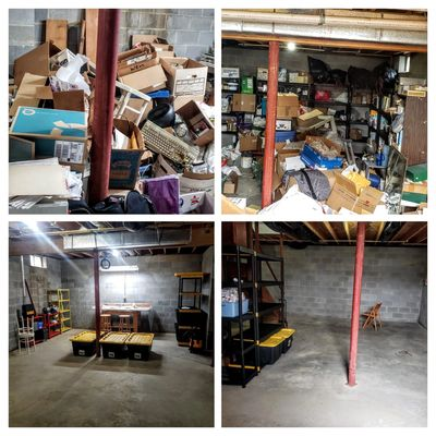 clutter in basement garbage removal basement organizing jink removal hoarding help junk removal basement storage
