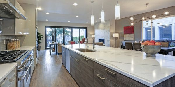 Kitchen countertops done in quartz