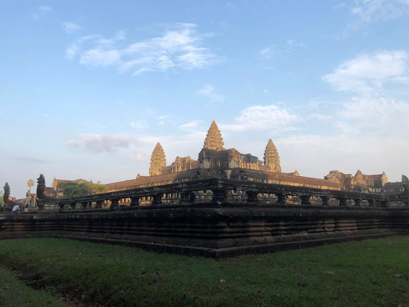 The sunrise at Angkor Wat temple