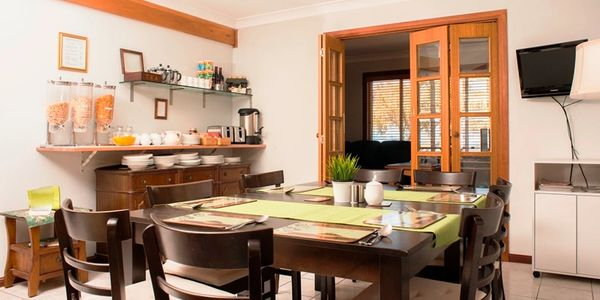 Dining room for complimentary continental breakfast. Cooked breakfast menu available at small charge