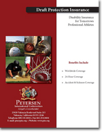 Sports Draft Protection Disability Brochure from Petersen International Underwriters including for N