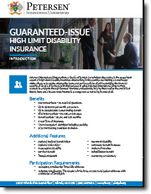 Guaranteed Issue Business / GSI Disability Brochure from Petersen International Underwriters