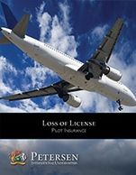 Pilot Loss of License High Limit Disability Brochure from Petersen International Underwriters