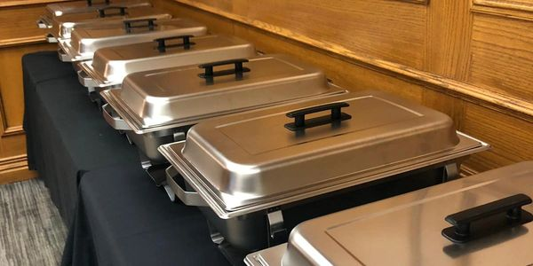 Chafing trays available for catering