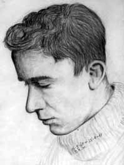 A self portrait, drawn while I was working for my final exams in Adelaide, 1960.