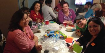 Building Toiletry kits and collecting clothes for the Long Beach Rescue Mission Feb 2014